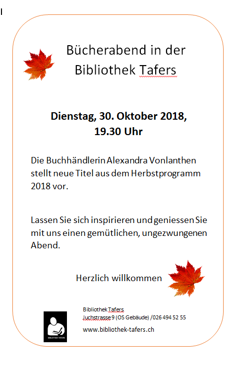 2018-10-05_Bücherabend_30.10.18Tafers